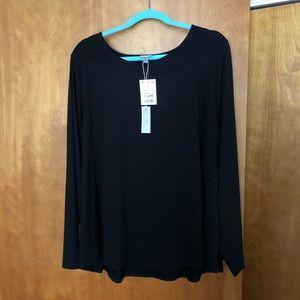 Cupio 3X plus size black blouse NWT!